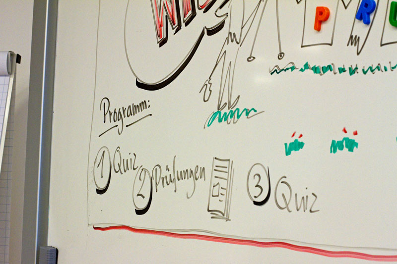 Whiteboard mit ABC 4