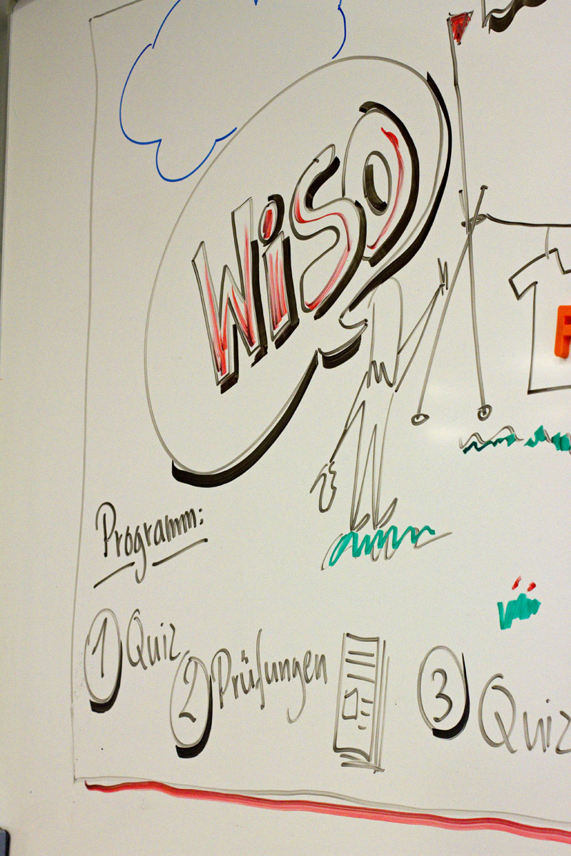 Whiteboard mit ABC 6
