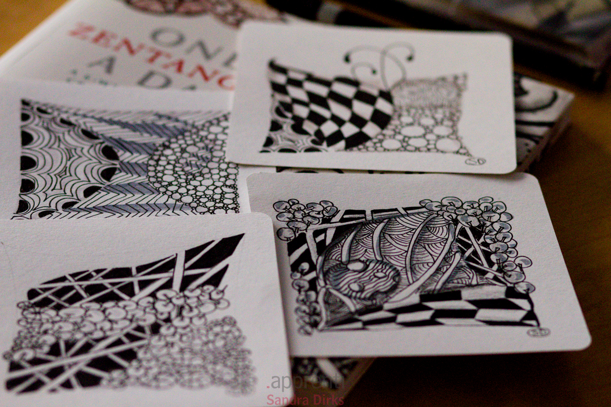One Zentangle a day 4