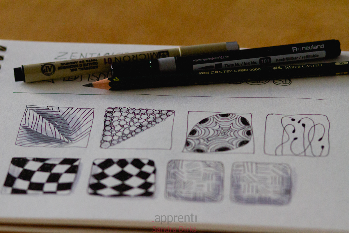 One Zentangle a day 7