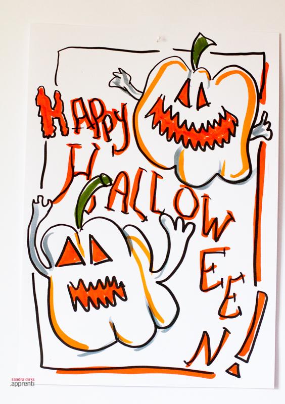 Mini - Flipchartkurs: Halloween-Kürbis 2